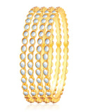 Delightly Gold Plated Kundan Bangle For Women