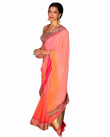 Peach Color Deepika saree