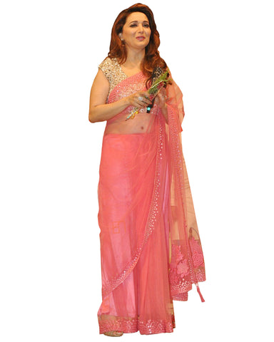 Madhuri Pink Color Saree