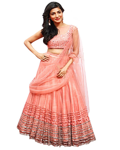 Shurti Hussan Peach Color Lehenga