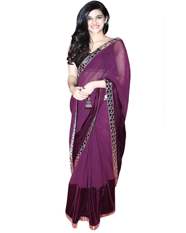 Kirti Sanon mirror Work Saree