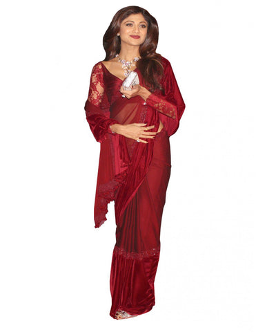 Shilpa Maroon Color Saree