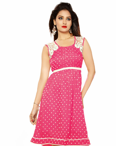 Trendy Look Pink Color Midi