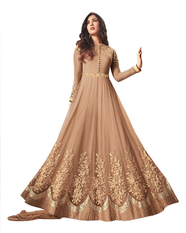 Party Wear Gold Net Salwar Suit