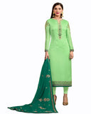 Light Green Color Georgette Satin suit