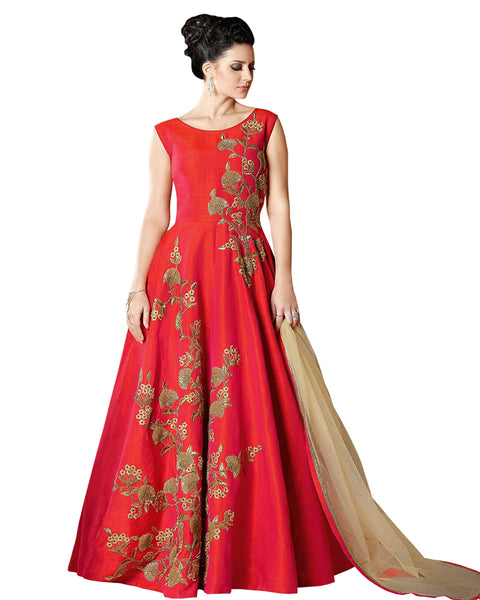 Red Designer Long Gown