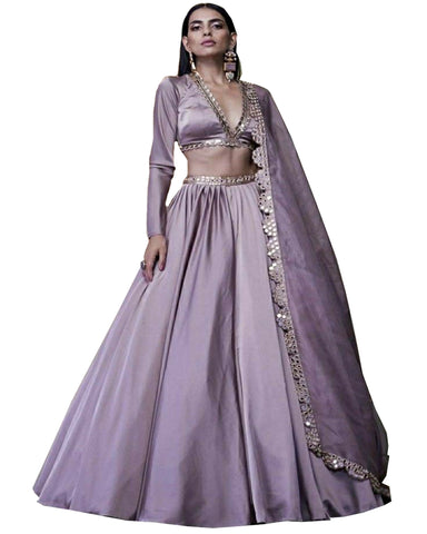 Light Purple Designer Lehenga