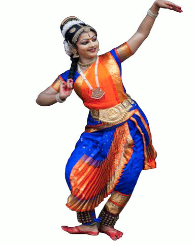 Orange & Blue Classical Dance Dress