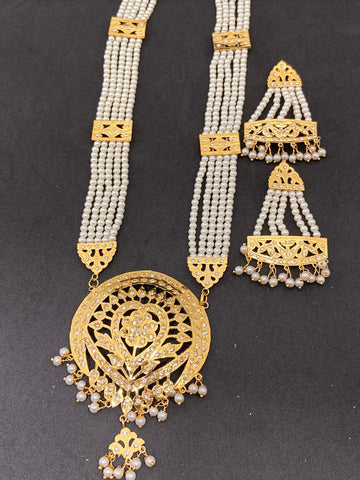 High Quality Pearls Color Hand Made Jadaoo Rani Set