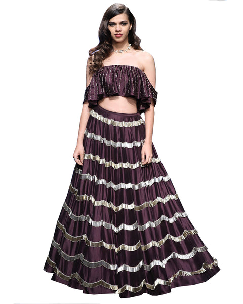 Purple Color Designer Lehenga
