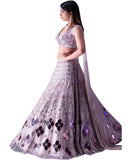 Light Purple Color Designer Mirror Lehenga