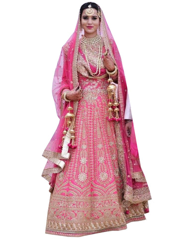 Pink Color Wedding lehenga