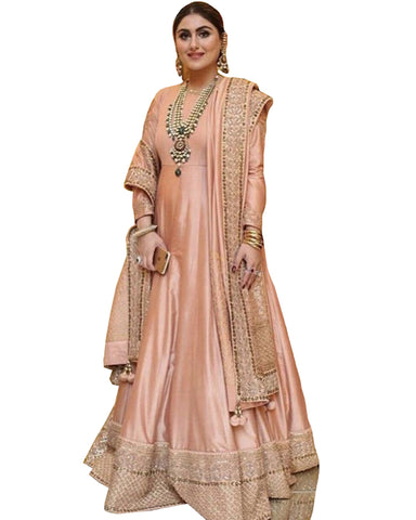 Demanding Peach Colored Party wear Suit