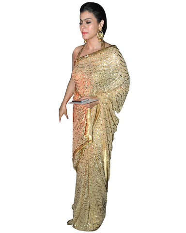 Bollywood  Squence Kajol Work Georgette Saree