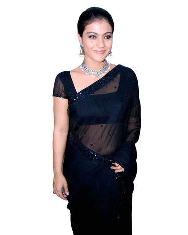 Bollywood Kajol Squence Work Georgette Saree