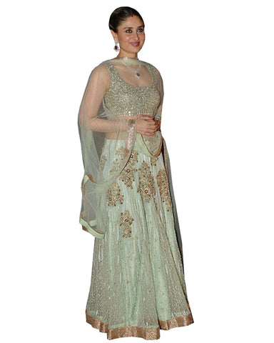 Pista Color Lehenga By kareena kapoor
