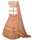 Peach Color Wedding Lehenga