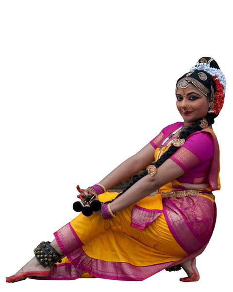 Pink And Yellow Classical Dance Dress