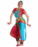Sky Blue And Red Dress Andhra Natyam Dance Dress