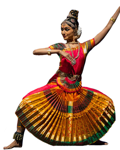 Yellow,Green and Pink Dress Andhra Natyam Dance Dress
