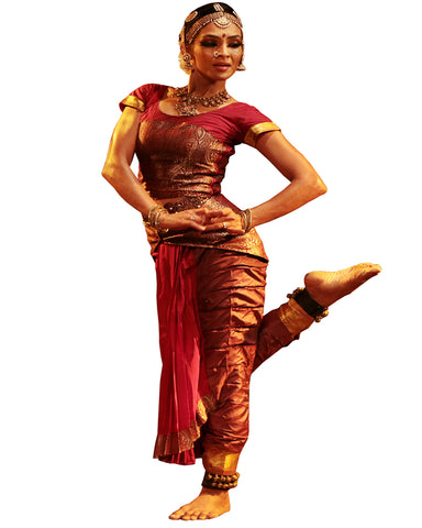 Maroon Classical Dance Bharatanatyam Dress