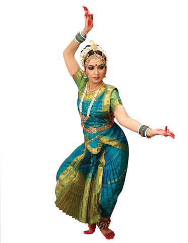 Blue Classical Dance Bharatanatyam Dress