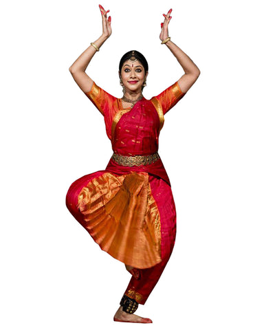 Red And Yellow Classical Dance Dress