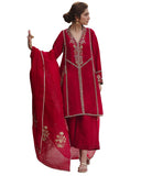 Designer Red Color Pakistani Suit