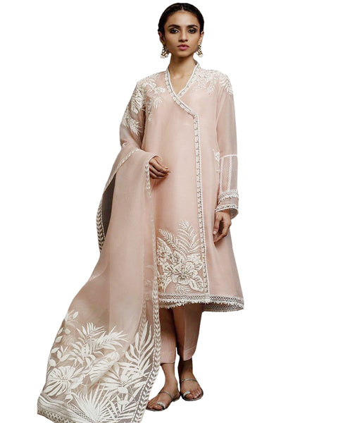 Designer Peach Color Pakistani Suit