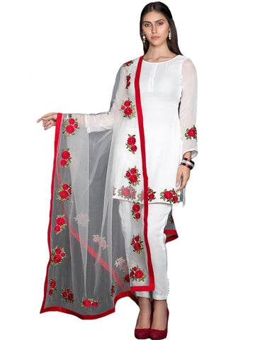 Designer White Color Pakistani Suit