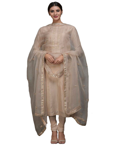 Designer Beige Color Pakistani Suit