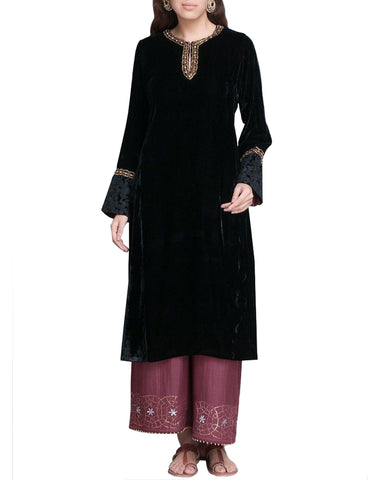 Designer Black And Purple Color Pakistani Suit