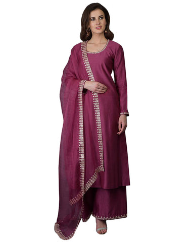 Designer Purple Color Pakistani Suit