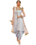Designer Sky Blue Color Soft Net,georgette Pakistani Suit