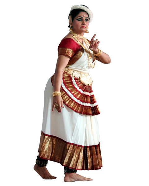 White And Red Folk Dance Dress