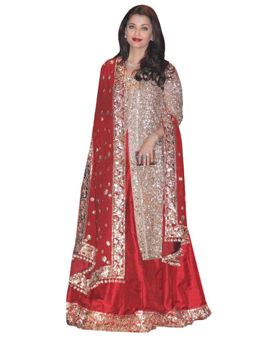 Aishwarya Rai Red And Gold Wedding Lehenga