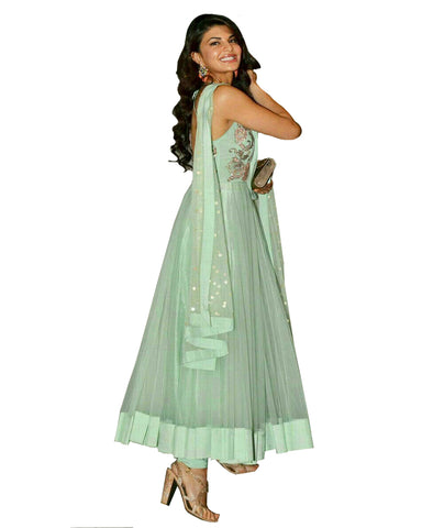 Jacqueline Fernandez Sea Green Long Anarkali Suit
