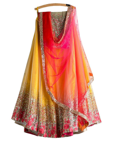 Designer Yellow Color Lehenga Choli