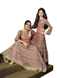 Chocolaty Color Mother Daughter Anarkali Suit