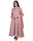 Peach Color Chikankari With Gotta Patti Pure Georgette Anarkali suit
