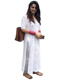 White Color Chikankari Pure Georgette Kurti