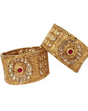 Pretty Gold Plated Bangles Set For Women