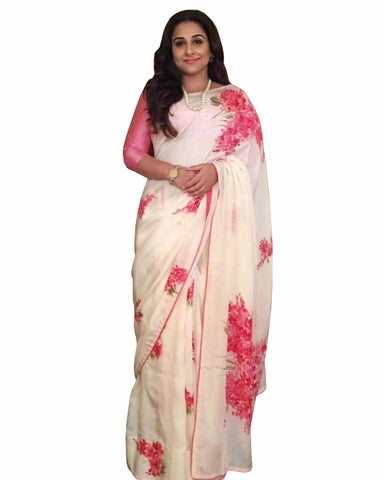 Vidya Balan American Crape Digitally Printed Saree
