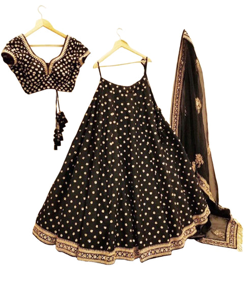 Black Color Designer Lehenga
