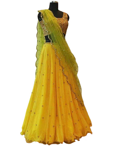 Yellow Color Designer Lehenga
