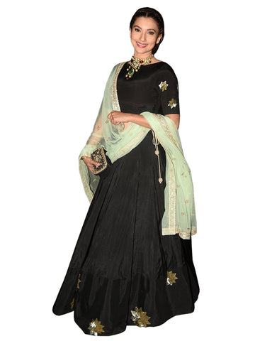 Black Color Silk gown