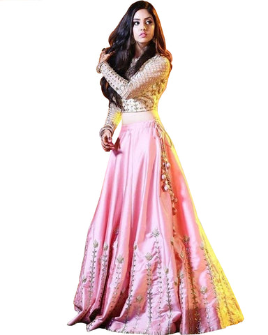 Light Pink And Beige Color Designer Lehenga
