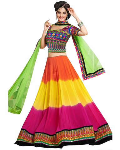 Navratri Special Multi Color Traditional Chaniya Choli