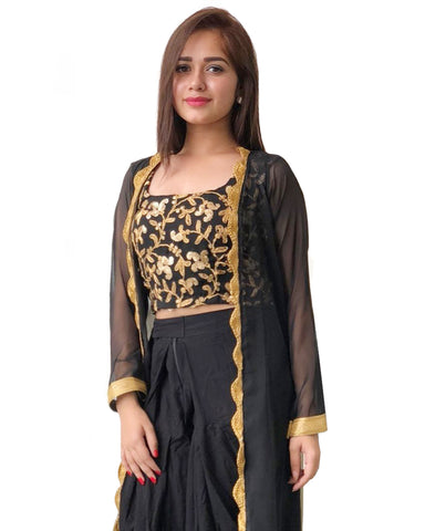 Black Color Shirak Salwar Kameez