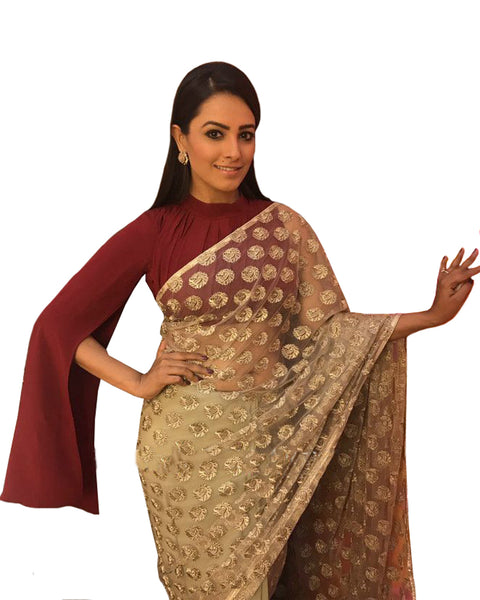 Bollywood Sequence Work Net Saree